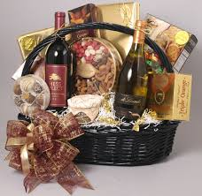 wine baskets deluxe wine basket phillips candy house
