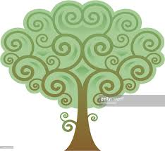 spiral tree vector getty images