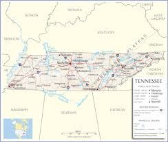 Map Of Nashville Tn Tennessee Map Tennessee State Map Tennessee State Road Map Map Of