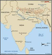 Jaipur India Map by This Picture Shows The Location Of The Ganges River In India