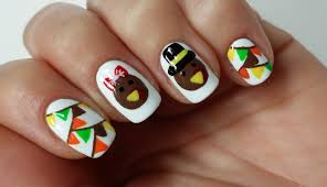 easy thanksgiving turkey nail art design youtube