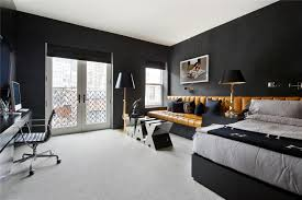 apartment cool luxury penthouse black wall white ceiling light