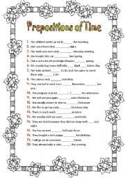 english worksheets prepositions worksheets page 83