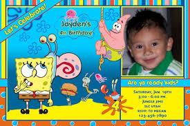 spongebob birthday invitations marialonghi com