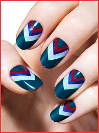 how to do nail designs with tape step by step