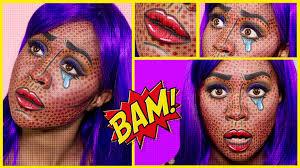 pop art comic book makeup tutorial dark skin nyx face awards