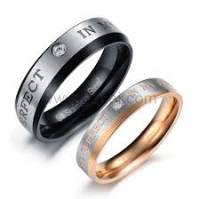 set ring engraved promise rings for both men and women set of 2