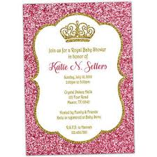 pink and gold baby shower invitations shop baby girl princess shower invitations on wanelo