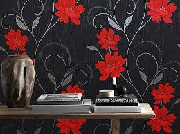 grey wallpaper with red flowers red black and grey wallpaper f90cd4ff47b4704de58d2e218ed68138 top
