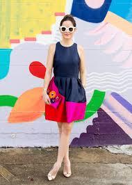 hutch designs color block dress