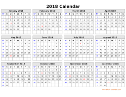 printable calendar year on one page free download printable calendar 2018 in one page clean design