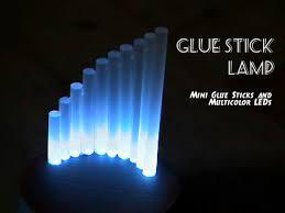 Diy Mini Desk Lamp Diffused Glue Stick Lamp Light Crafts Glue Sticks And Diy Light