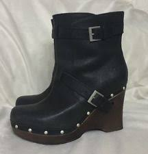ugg australia s emalie waterproof wedge boot 7us stout brown ugg australia leather wedge ankle boots for ebay