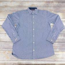 van heusen slim fit striped button down dress shirts for men ebay