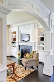 interior arch designs for home archway with small bookcase as room divider house search