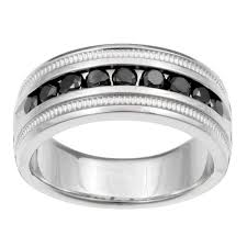 mens black engagement rings sterling silver s 1ct tdw black band free shipping