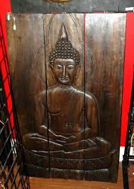 3 panel wood wall wall designs best buddha wood wall wooden buddha wall