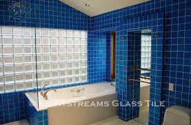 blue bathroom tile ideas blue glass tiles bathroom room design ideas
