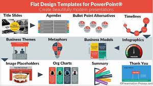 flat design templates for powerpoint main page