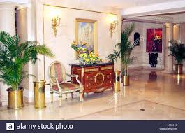 the camino real resort hotel interior lobby decor with table and