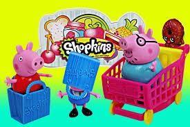 peppa pig shopkins surprise basket frozen elsa anna