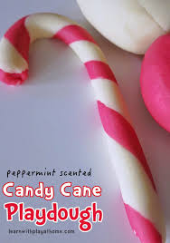 peppermint scented candy cane playdough learn with play home