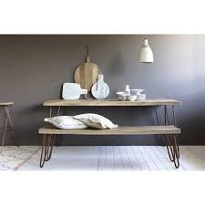 Scandi Dining Table Scandinavian Dining Table In Timber With Hairpin Legs
