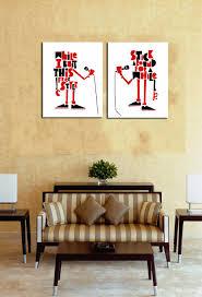 online shop 2 pieces picture english robots singing canvas print
