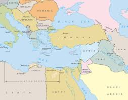 Blank Map Of Eastern Mediterranean by The Iliad And Odyssey