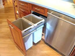 trash cans for kitchen cabinets kitchen island with trash can storage kitchen island with trash bin