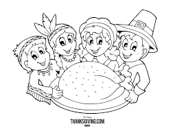 thanksgiving coloring book pages kids