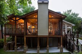 wooden deck and porch makeover hometalk