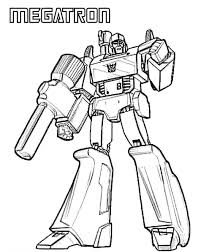 Transformers Megatron Coloring Page Coloring Book Transformer Color Page