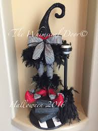 Witch Wreath Halloween Halloween Centerpiece Wicked Witch Wreath Centerpiece Witch Hat