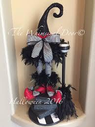 Witch Wreath Halloween by Halloween Centerpiece Wicked Witch Wreath Centerpiece Witch Hat