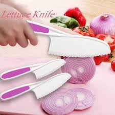 childrens kitchen knives home servz lettuce knife set serrated plastic knife