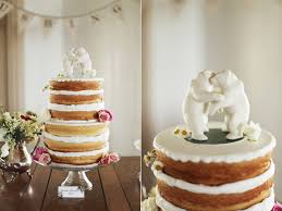 wedding cake no icing schoolhouse fall wedding ruffled