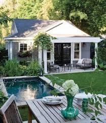 Cottage Backyard Ideas Interesting Ways To Design Your Backyard Pools Smallest House