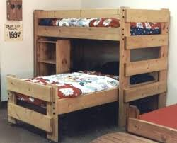 Free Twin Over Double Bunk Bed Plans by 14 Best Bunk Beds Images On Pinterest 3 4 Beds Lofted Beds And
