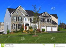 three car garage new house with three car garage stock photography image 27124392