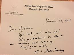 justice ruth bader ginsburg pens note to who dressed up as