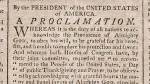 thanksgiving proclamation of 1789 george washington s mount vernon