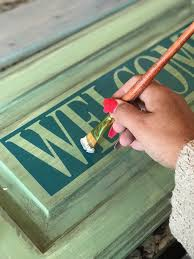 what type of paint to use on wood cabinets creating a wood sign with your silhouette machine the font bundles
