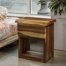 Acacia Table Solid Acacia Bed Side Table Terramai Pdx