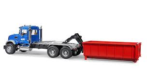 bruder fire truck amazon com bruder mack granite tipping container truck toys u0026 games