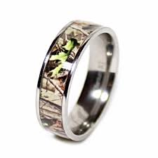 camo wedding rings his and hers his hers camouflage real forest oak camo titanium wedding rings