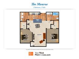 Nia Floor Plan by Worthington Creek Apartments Senior Living Community In