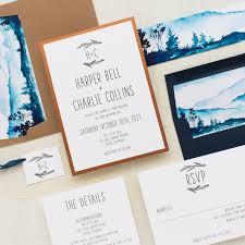 mountain wedding invitations blue mountain wedding invitations beacon