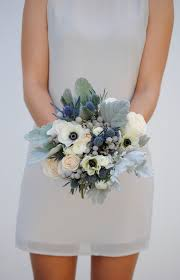 blue wedding bouquets navy blue wedding flower package dusty blue wedding anemone