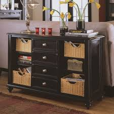 Sofa Table With Drawers Console Table With 4 Drawers And 4 Baskets By American Drew Wolf